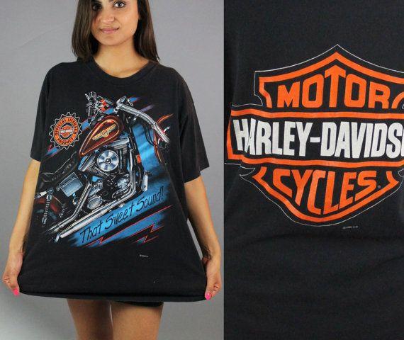 Harley Davidson Vintage T Shirt Tshirt By Catapolinarvintage Harley Shirts Harley Davidson T Shirts T Shirt