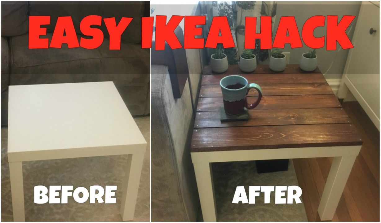Ikea Lack Side Table Hack Turn A Boring Ikea Table Into A Rustic Looking End Table For About 5 Ikea Lack Side Table Ikea Table Hack Ikea Lack Table [ 720 x 1229 Pixel ]