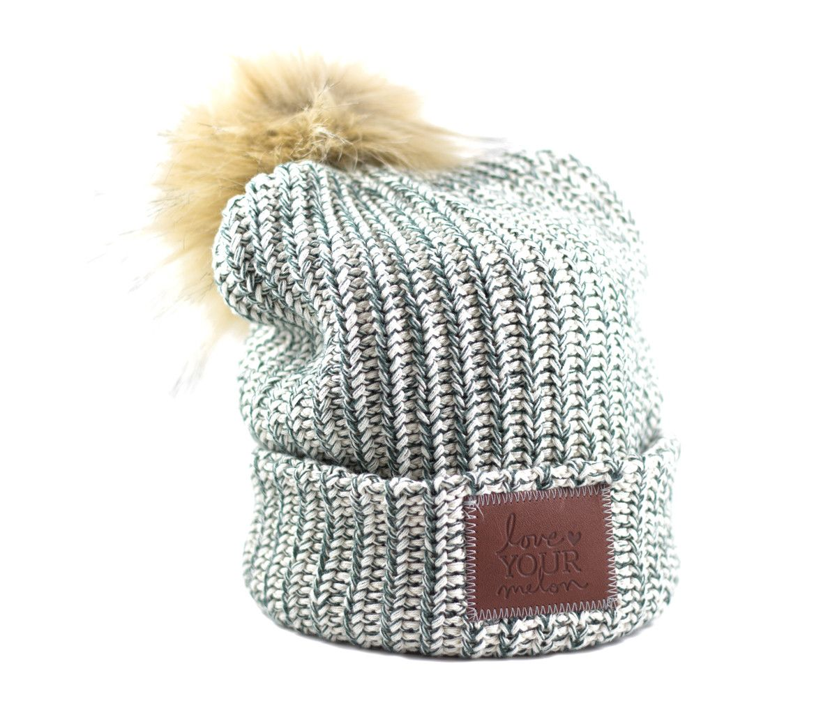 6bc5b94ca52 Hunter Green Speckled Cuffed Pom Beanie – Love Your Melon