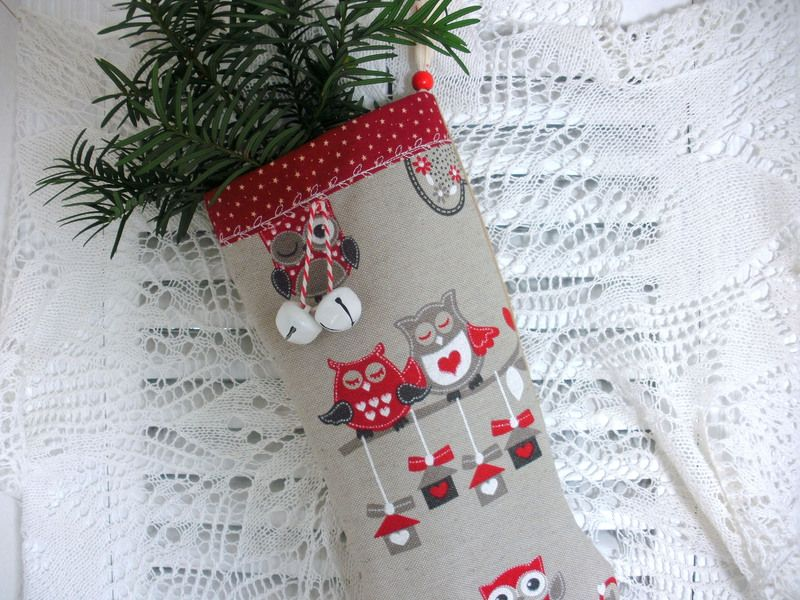Adventssocke Weihnachtseulen von Kleines Nähstübchen von FAIRY-LOU auf DaWanda.com