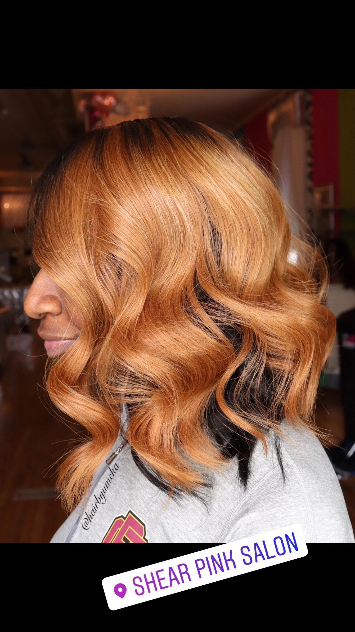 Honey Blonde Quick Weave Bob With Beach Waves Quick Weave Bob Bob Weave Quick Weave