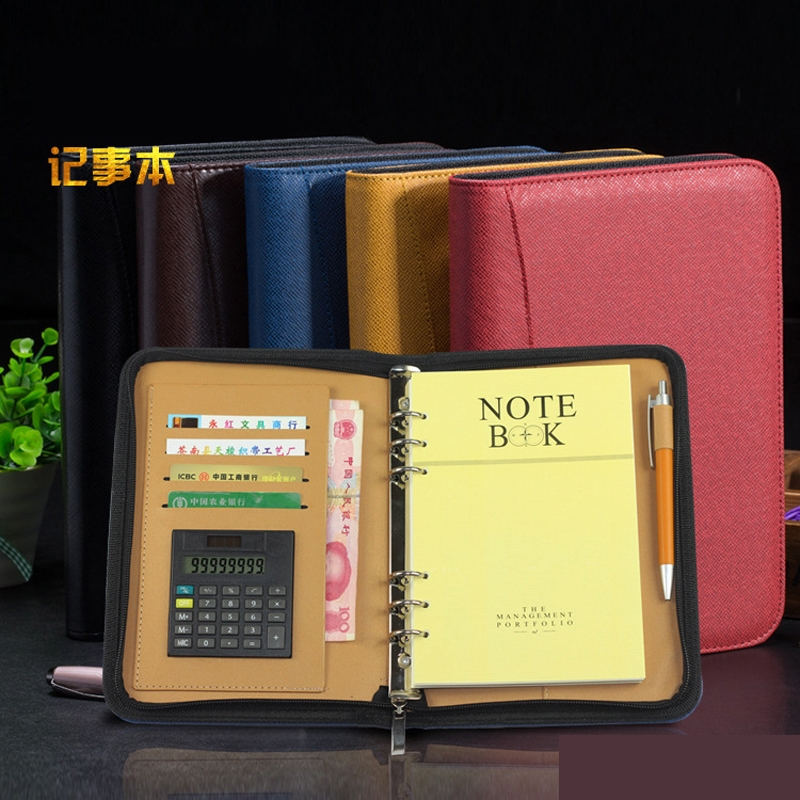 59.90$  Buy here - http://alirfu.worldwells.pw/go.php?t=32700055390 - Weekly planner Office supplies high grade leather A5 note books Leather business gift set Zipper bag notebook stationery