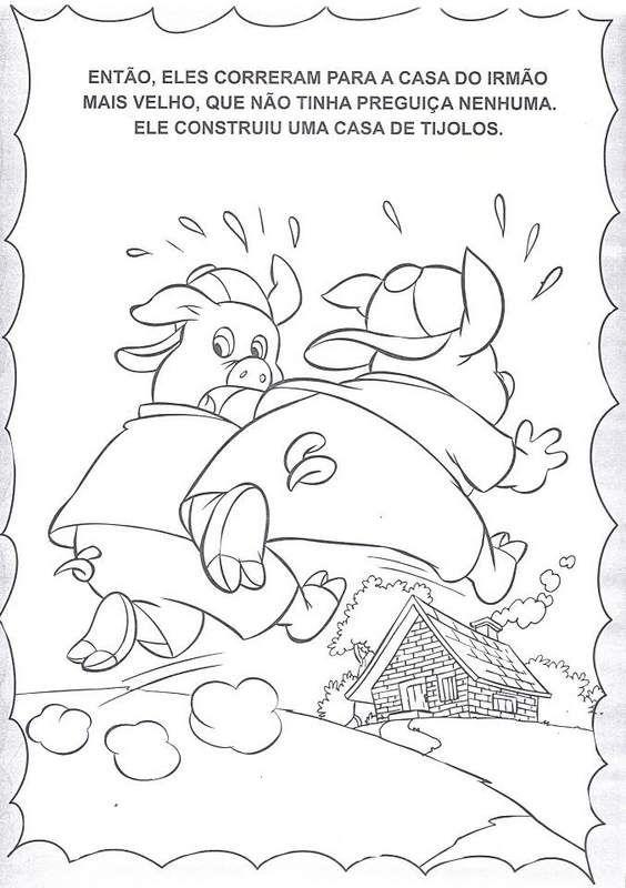Historia Dos Tres Porquinhos Para Colorir Tres Porquinhos Porco