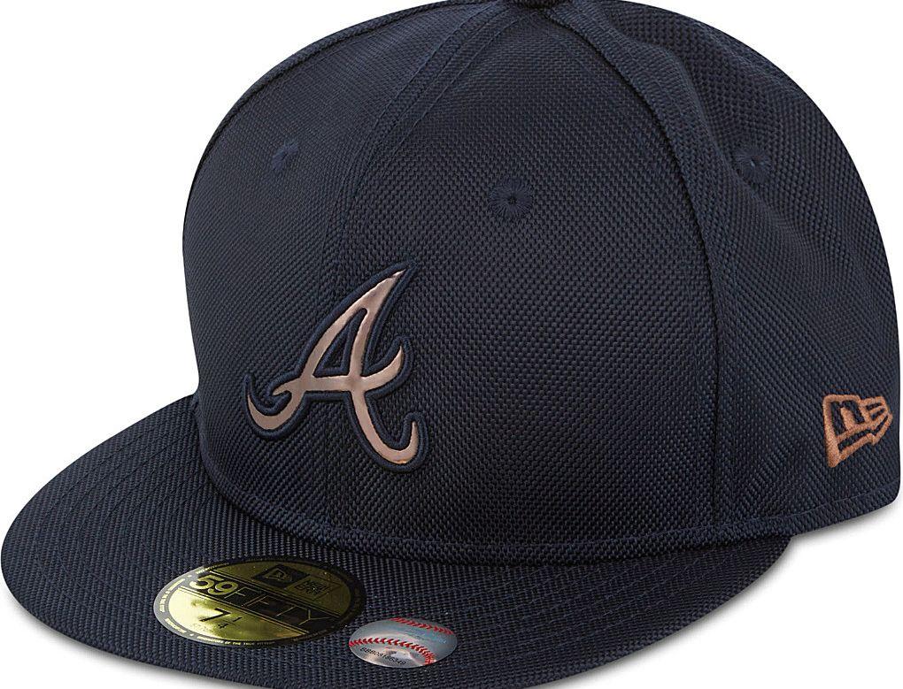 Atlanta Braves Chrome Badge 59fifty Fitted Baseball Cap By New Era X Mlb Fitted Baseball Caps Atlanta Braves Baseball Cap