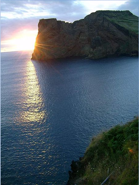 Morro Norte, Velas, por-do-sol, ilha de São Jorge, Açores, Portugal