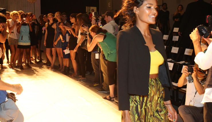 Pre-Party, Dance Party at the walk-thru! Spring 2014 Runway