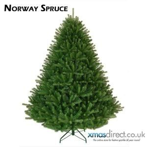 Artificial Norway Spruce Christmas Tree In Front Of Heater