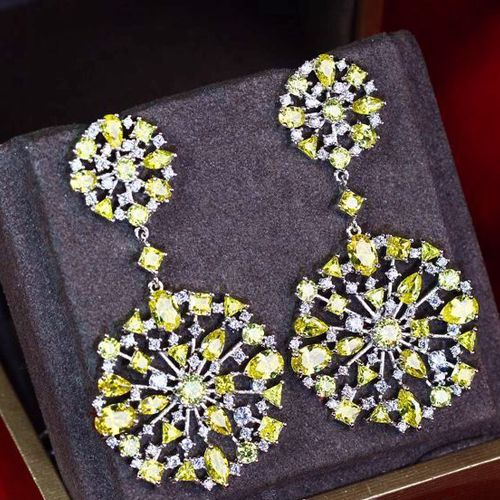 Zircon Earring JHZ-442 USD59.14, Click photo for shopping guide and discount