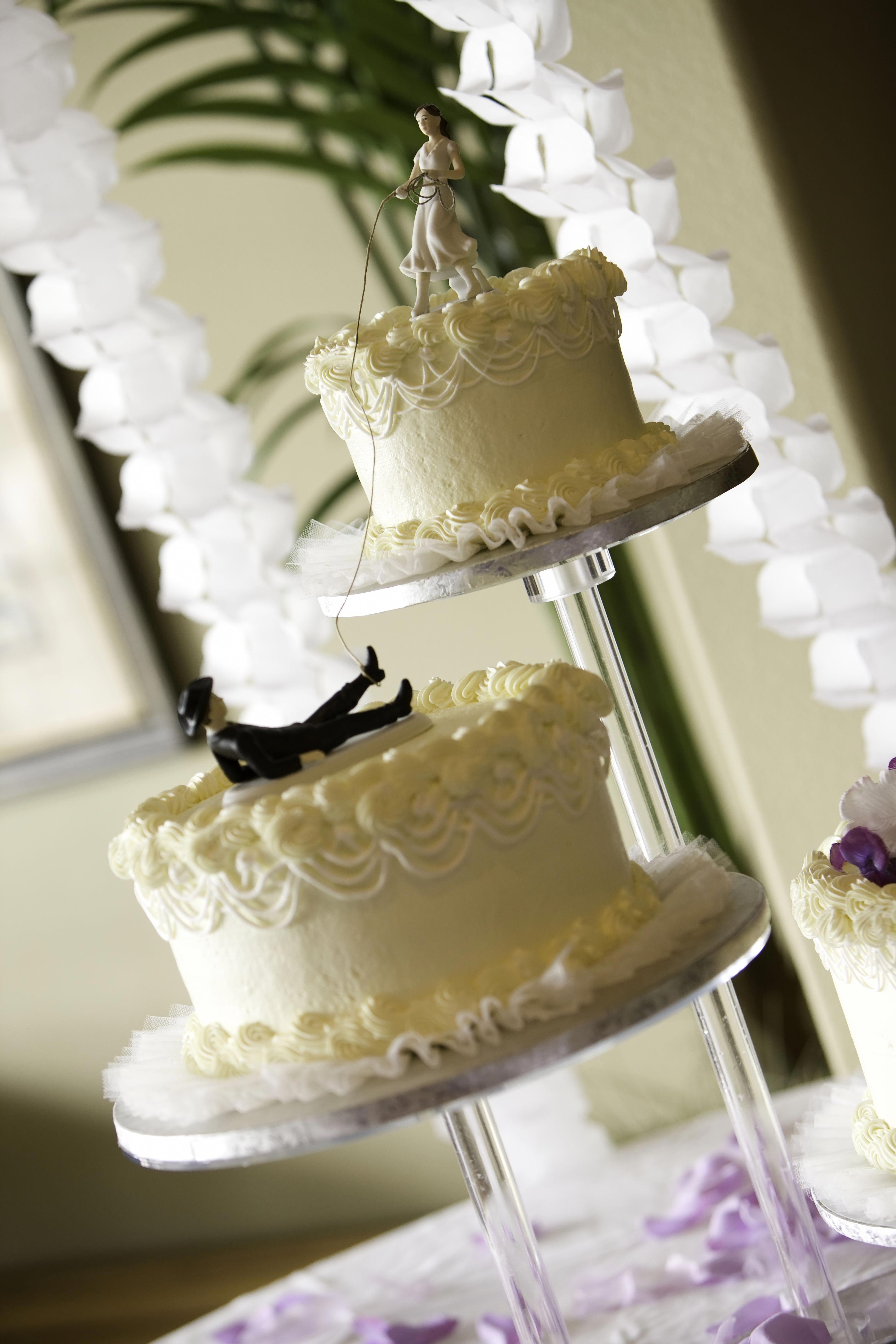 Never under no scenarios place your wedding cake near the
