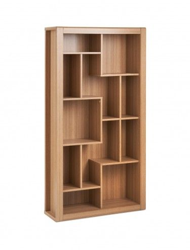 BookcasesRio Bookcase RIOBC In Teak Finish With Modern Shelving Design Sale Price 12240 Includes Free Delivery And VatDams