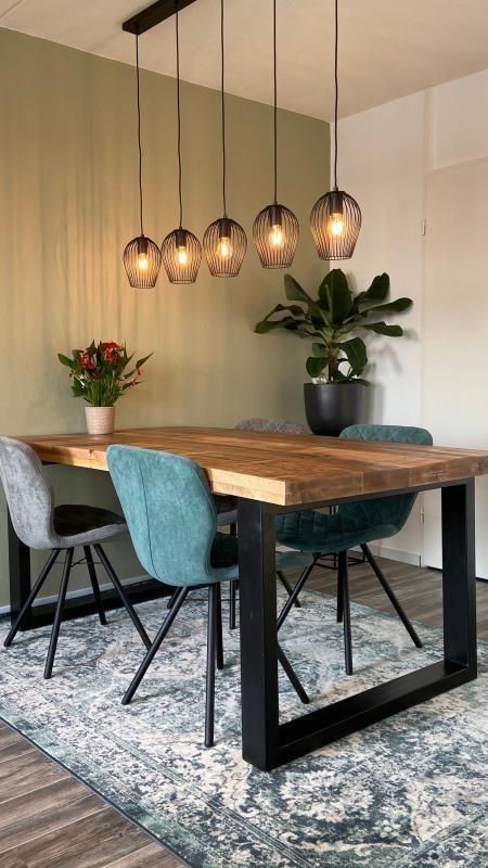 Hangeleuchte Lagos Matt Schwarz 5 Leuchten In 2020 Dining Room Decor Room Decor Dining Room Table