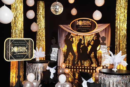 Show Your Residents A Roaring Good Time 1920s Party Ideas Roaring Twenties Party Roaring 20s Party 20s Party Decorations