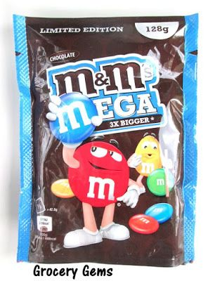 Grocery Gems: Review: Chocolate Mega M&M's - Limited Edition