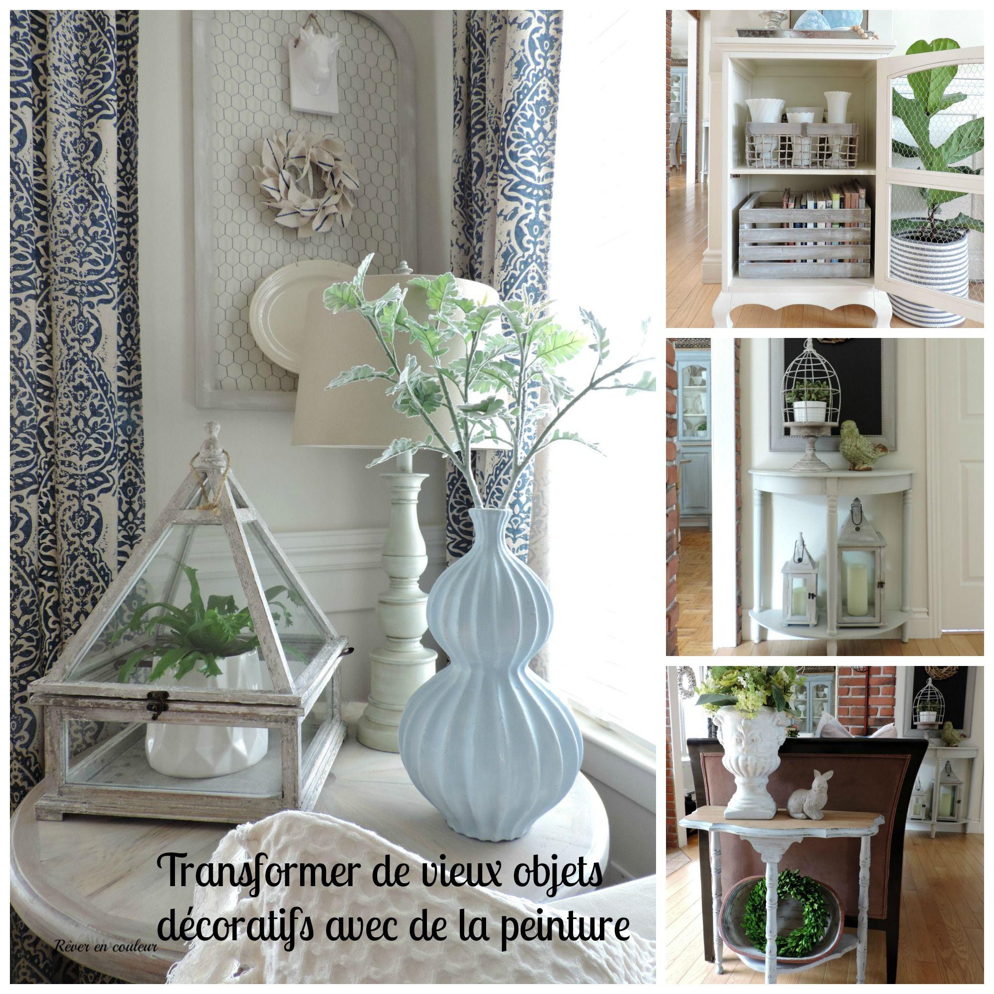 Home accessories transformed with paint récupérer de vieux objets déco avec de la peinture