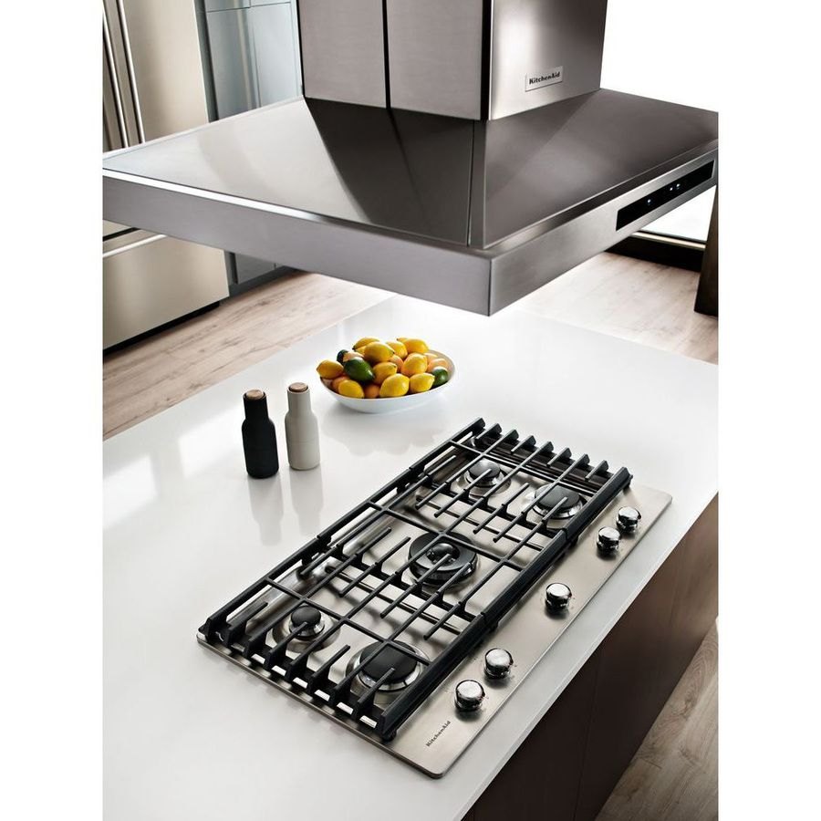 Shop KitchenAid 5-Burner Gas Cooktop (Stainless Steel