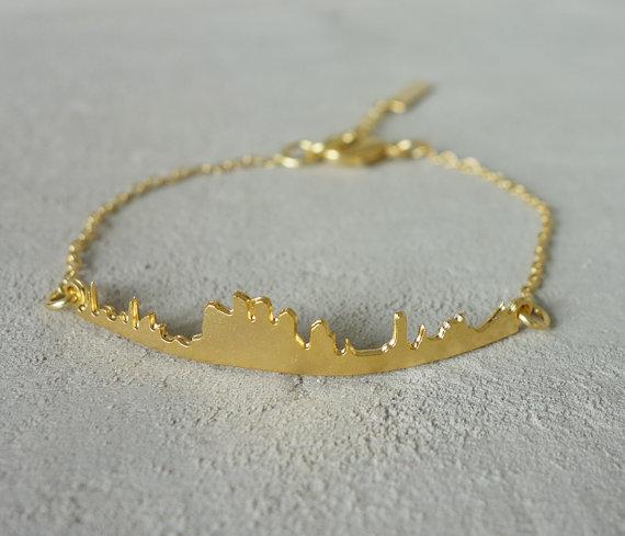 Skyline Bracelet Tel Aviv Architectural jewelry urban jewelry
