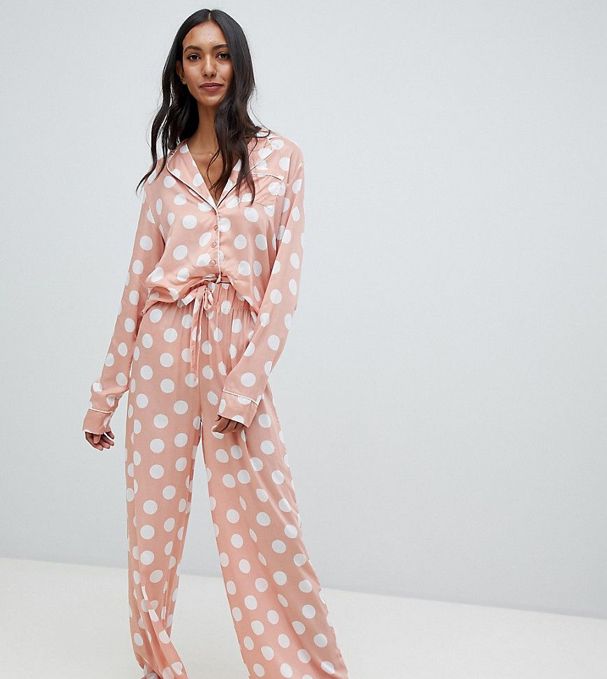 new style abe8a 96153 ASOS Damen ASOS DESIGN Tall – Safari – Pyjama aus Hemd und ...