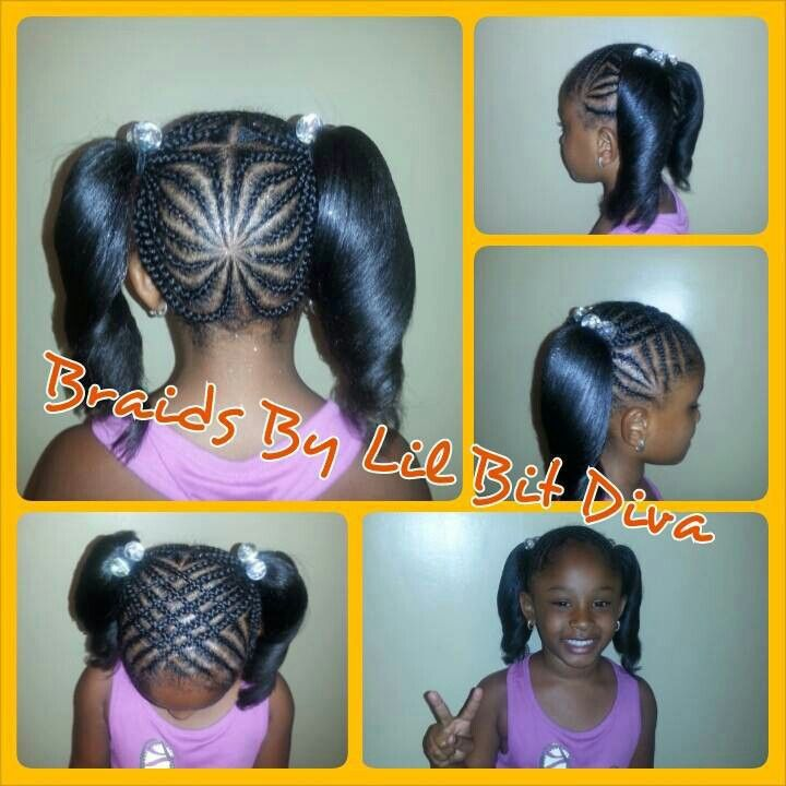 Little Girl Hairstyles Braids Pony Tail Up Do Kids Girl