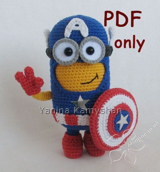 Amigurumi Minion Superheroes : Hero Monster, amigurumi crochet PDF pattern More ...
