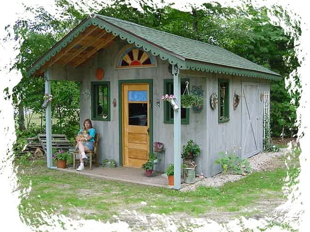 Rustic+Garden+Sheds+With+Porches | Rustic Garden Potting Shed With Front