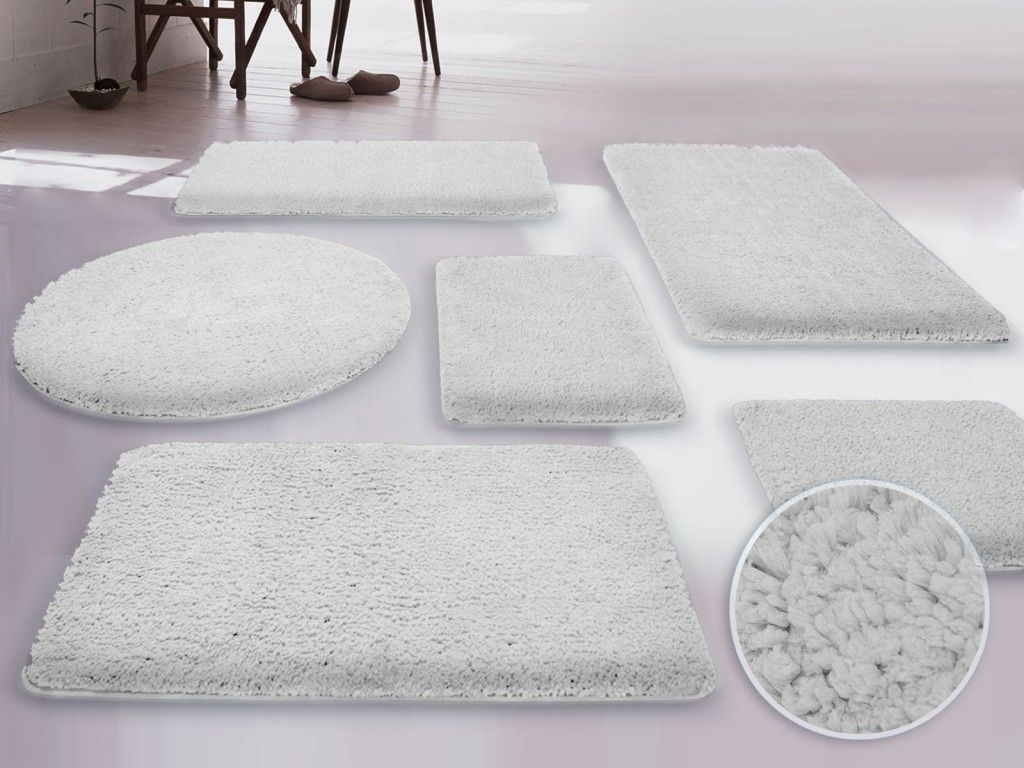 Bathroom Rug Set With Tank Cover NeubertWebcom Home Design - Black fluffy bathroom rugs for bathroom decorating ideas