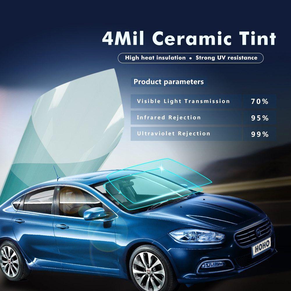 99 Uv 70 Vlt Nano Ceramic Solar Tint Window Glass Film Auto Heat