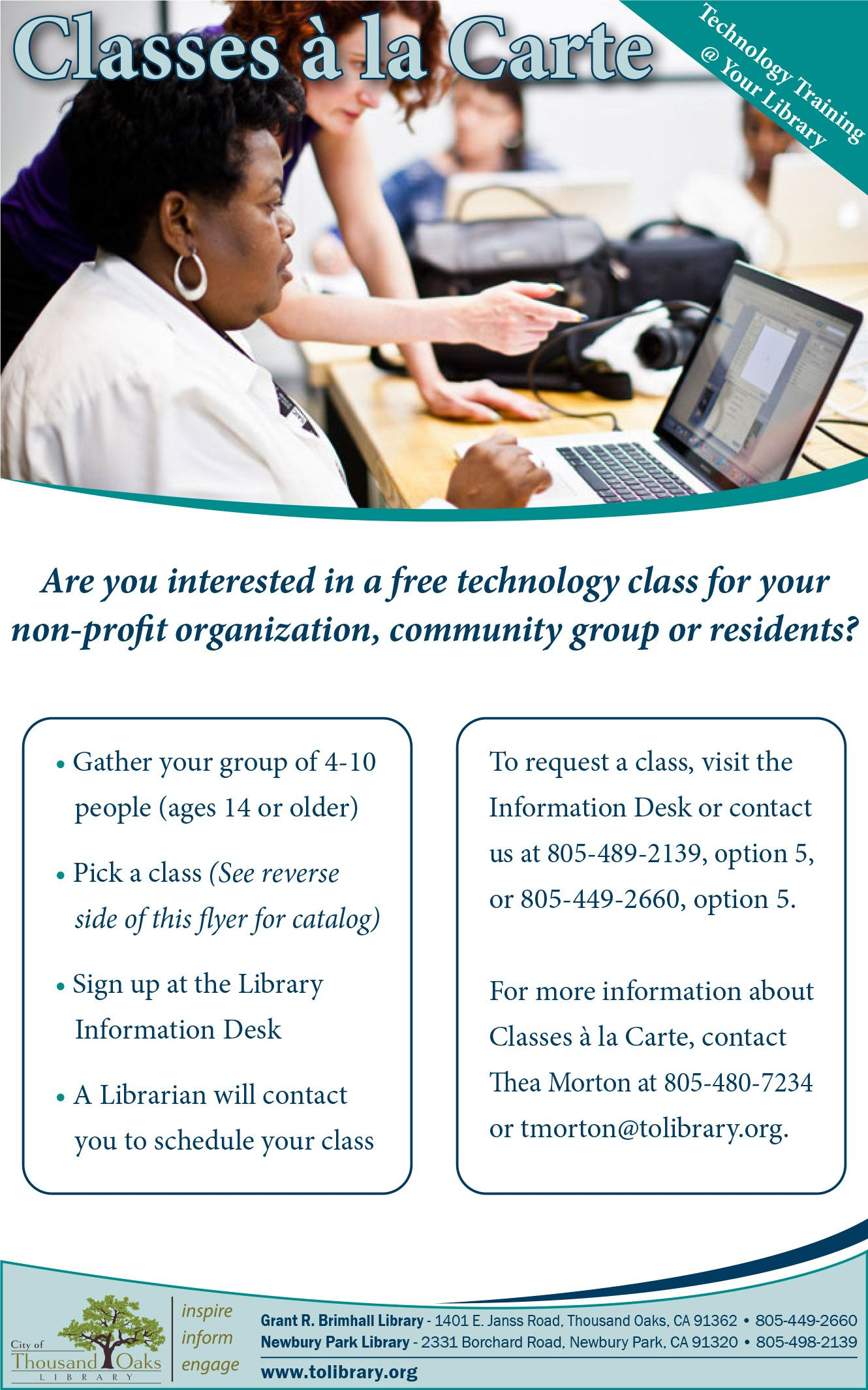 Classes à la Carte Free technology, Community group, Non
