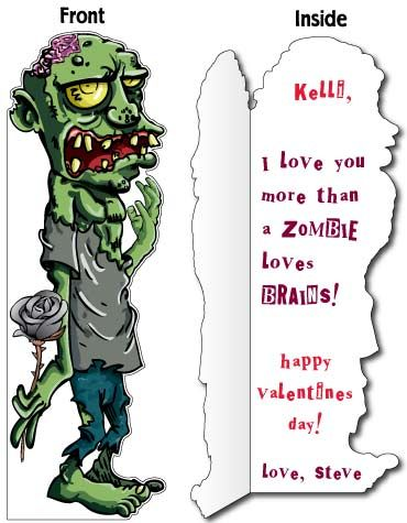 Life Size Zombie Card Free Shipping Zombie Birthday Birthday Cards Funny Cards