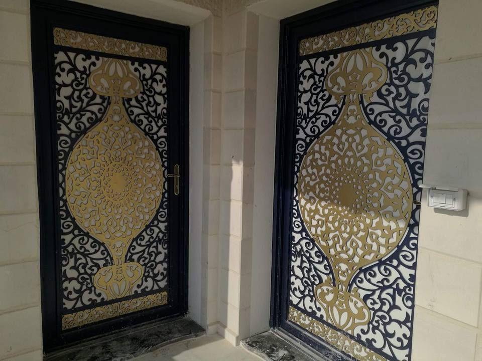 Door تنفيذ ابواب الحديد عادي زخرفه و ليزر الرياض 0530608113 Door Design Cnc Design Design