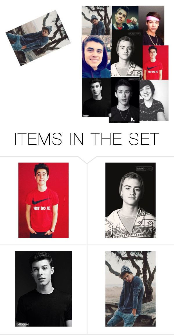 """""""magcon..."""" by btayflips ❤ liked on Polyvore featuring art"""