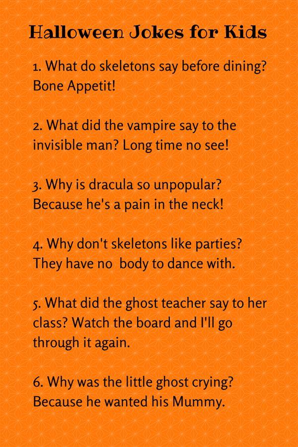 CUTE HALLOWEEN JOKES FOR KIDS Halloween jokes, Jokes for