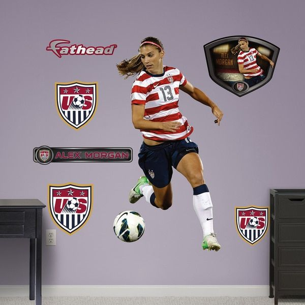 Fathead Alex Morgan Wall Decals   16833624   Overstock.com Shopping   Big  Discounts On