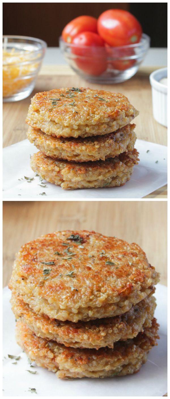 Sun-Dried Tomato and Mozzarella Quinoa Burgers #vegetarian #healthy #quinoa #burgers