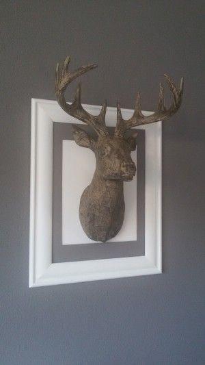 Mooie hertenkop op een lijst gemaakt nieuwe inrichting pinterest doe het zelf decoratie - Oude huisdecoratie ...
