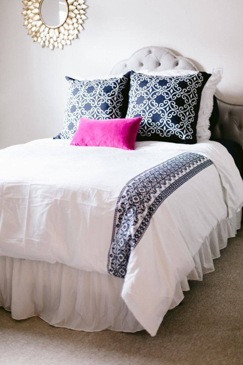 Amanda Miller using Kate Spade New York bedding in her