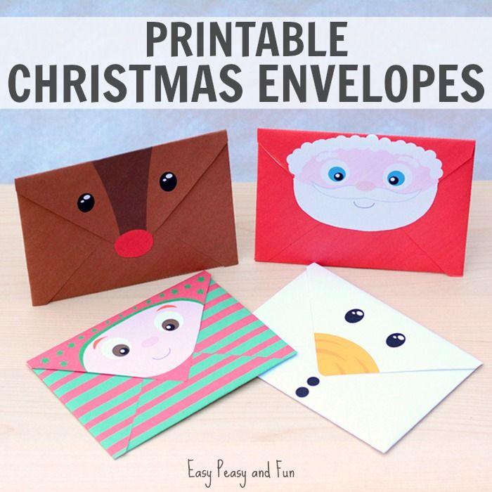 Printable Christmas Envelopes Christmas envelopes, Envelopes and Santa