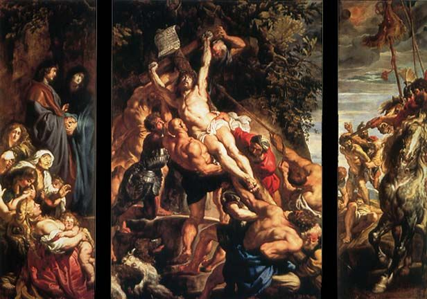 Raising Of The Cross Cathedral Our Lady Antwerp Peter Paul Rubens