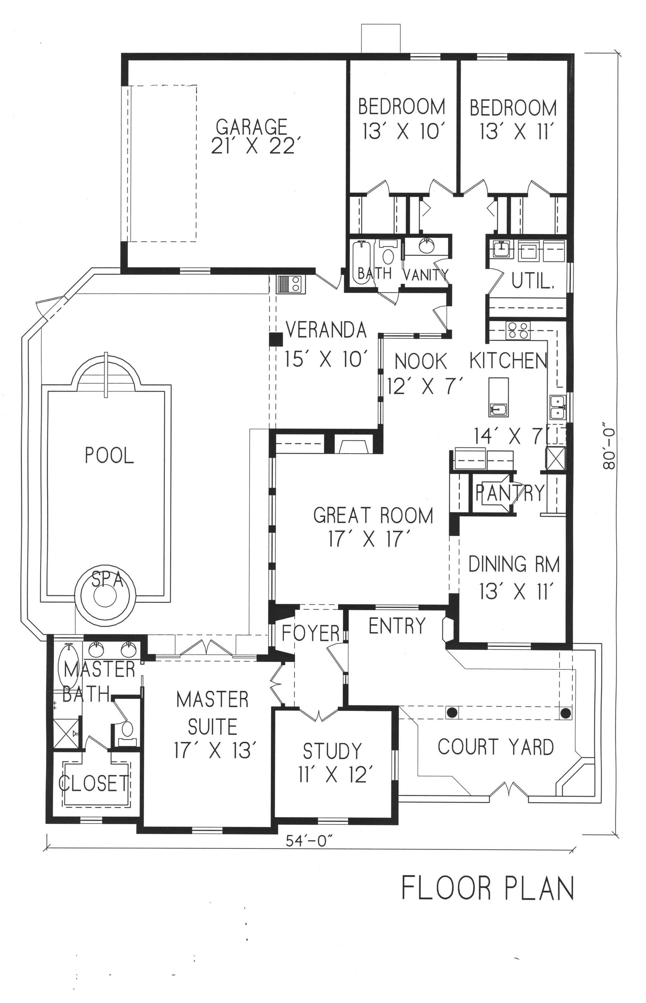 Plan 1 1109 Period Style Homes Plan Sales Courtyard House Plans House Plans U Shaped House Plans