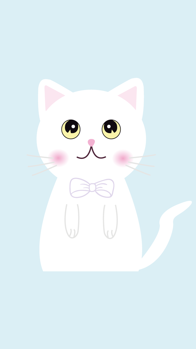 Cute White Kitty Iphone Wallpaper Panpins Iphone Wallpapers