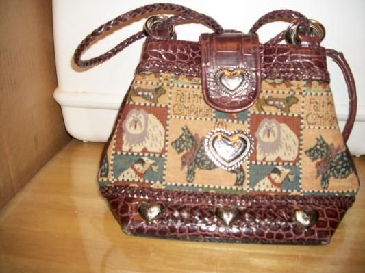 #6000 BEAUTIFUL DOG TAPESTRY PURSE HANDBAG FREE SHIPPING FREE PHOTONS WITH PURCHASE