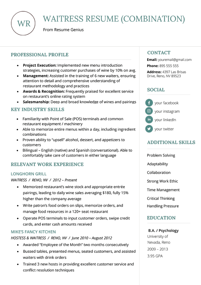 The 8 Best Cv Formats To Land A Job Examples In 2020 Resume Template Word Resume Profile Examples Resume Summary Examples