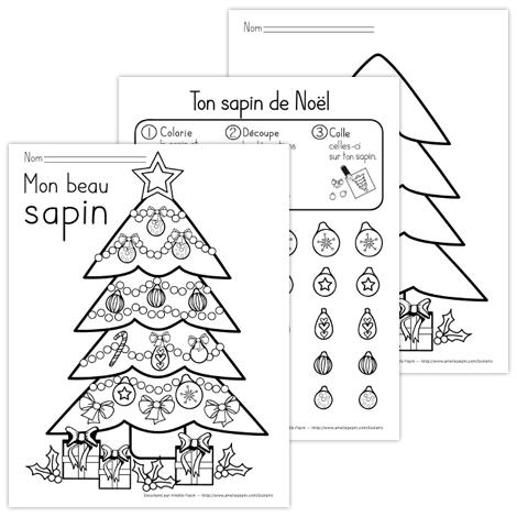 Mon beau sapin   Noel maternelle, Coloriage noel et Cahier de