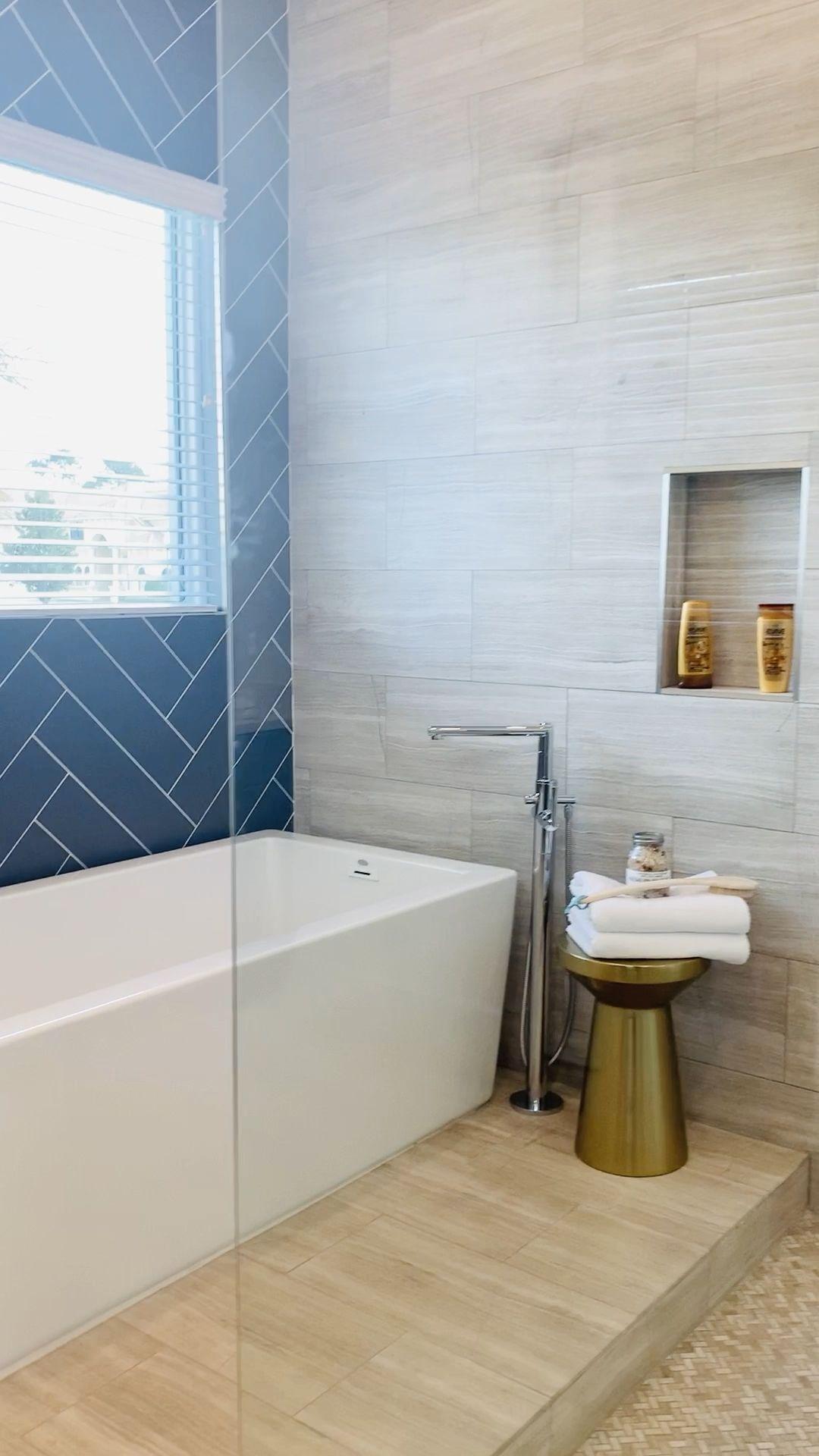 Photo of Luxury Bathroom Suite with Custom Tile Details