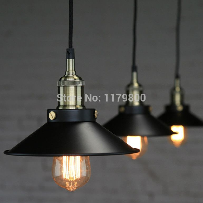 Retro vintage industrial style metal ceiling light lamp with edison retro vintage industrial style metal ceiling light lamp with edison bulb e27 restaurant cafe home decoration aloadofball Images