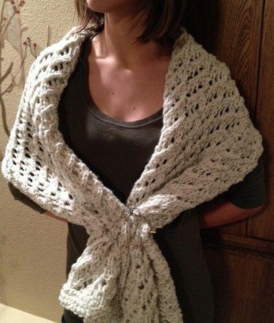 Lace Shawl - a loom knit pattern   Knit patterns, Shawl and Round loom