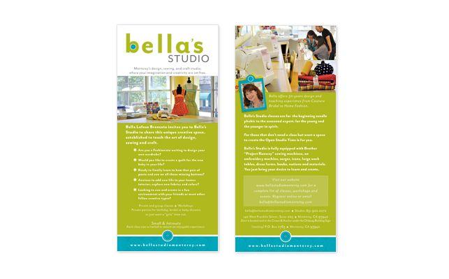 BellaS Studio Rack Card Design  Design  Rack Cards