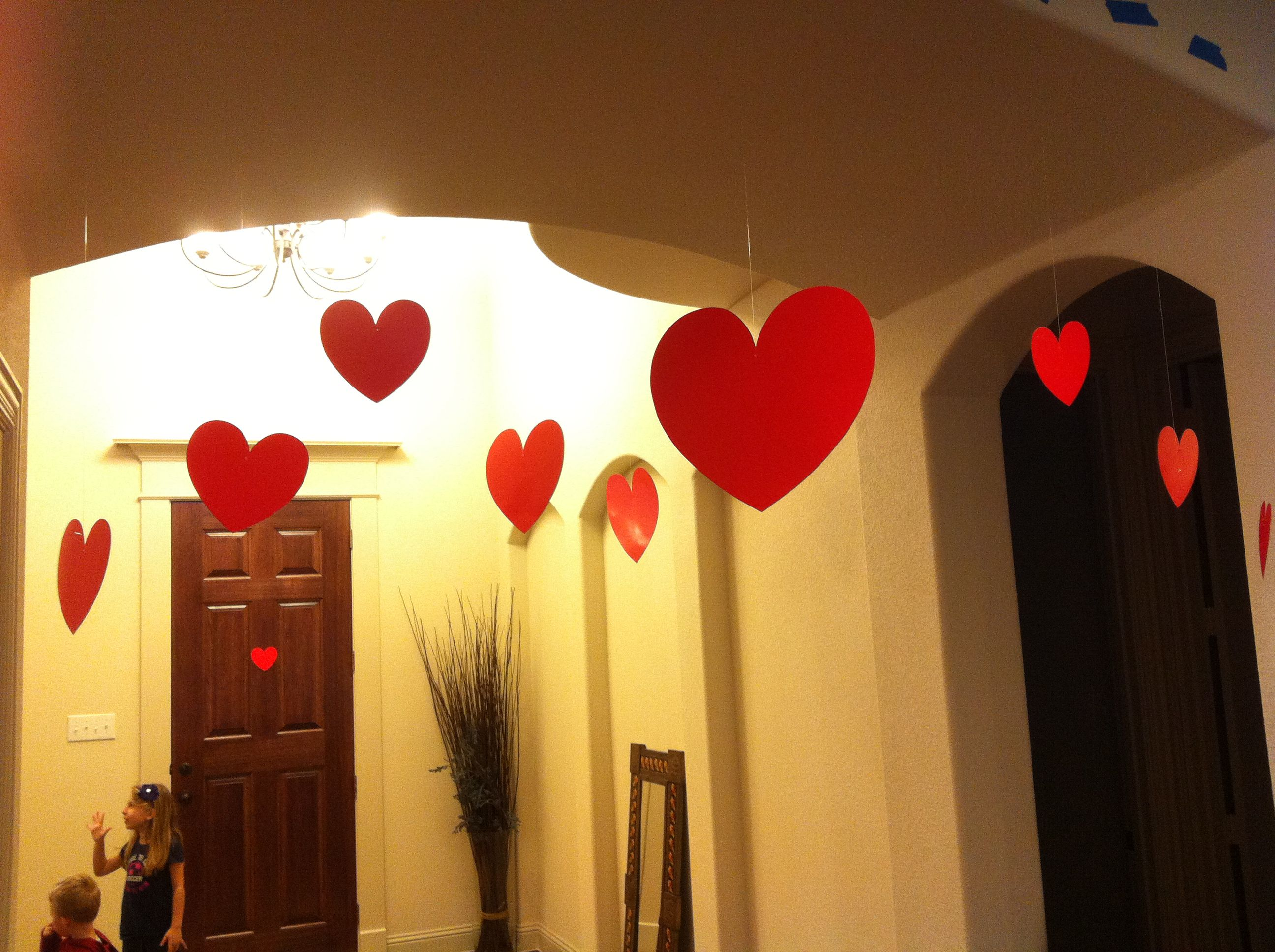 Floating Hearts - Valentine\' Day Front Entry decorations - Paper ...