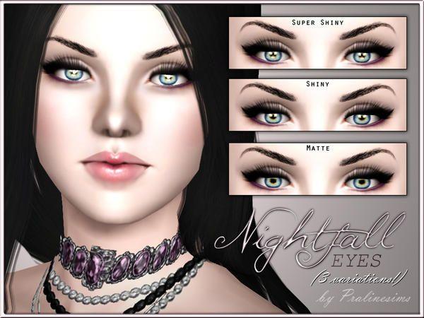 Nightfall Realistic Eyes By Pralinesims Sims 3 Downloads Cc