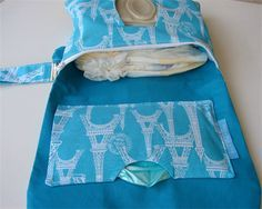 Eiffel Tower Clutch Nappy Wallet With Hand Sanitiser Holder