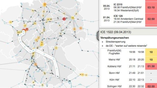 Open Data Projekt, Spiegel und OpenDataCity - Zugmonitor